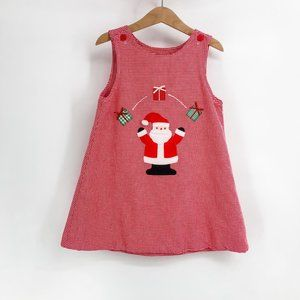 Girls holiday dress jumper reversible 4